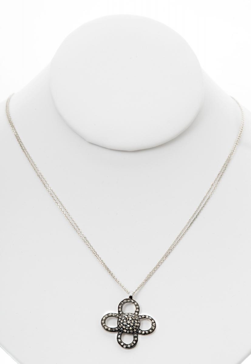 1387nd pave diamond flower pendant necklace apunto jewelryapunto 1387nd pave diamond flower pendant necklace aloadofball Gallery